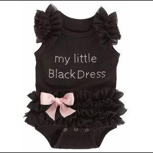 🌻4/$25 Little Black Dress Onesie, ruffle romper